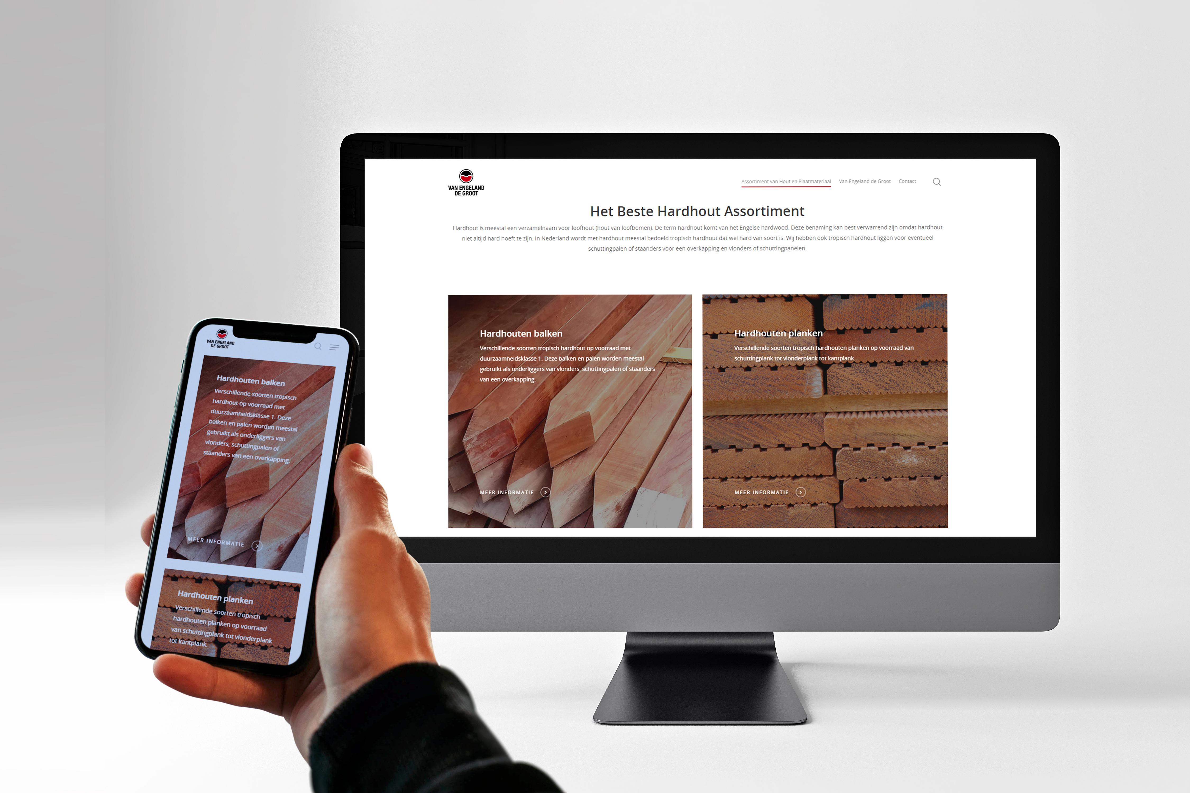 De van engeland de groot website op een imac