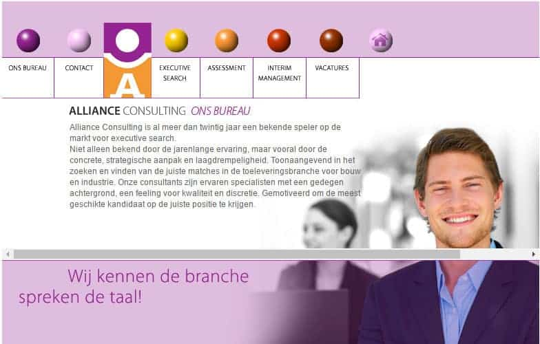 Alliance Consulting Website Ervoor