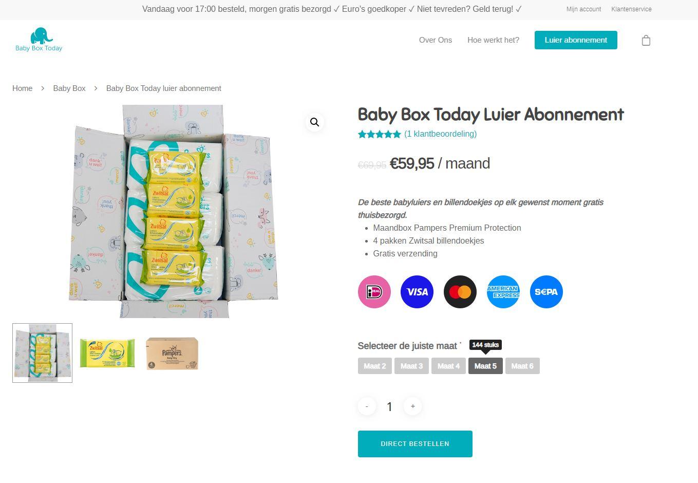 Babyboxtoday Productpagina