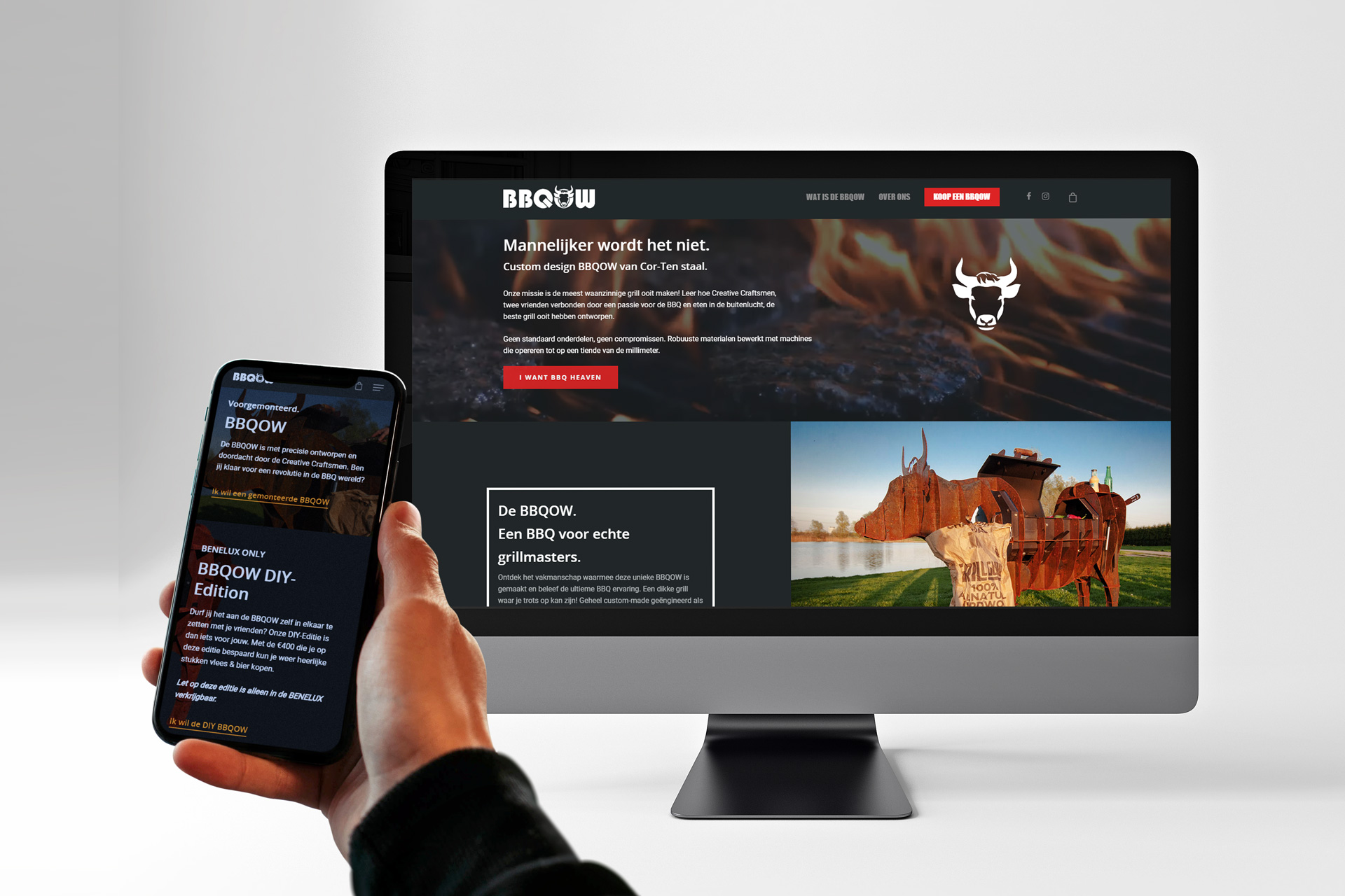 Bbqow Website Mockup